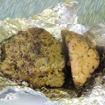 Foil baked Cauliflower