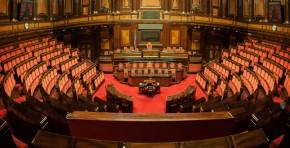 Roma, aula del senato della Repubblica foto dell'aula del senato della Repubblica vuota
