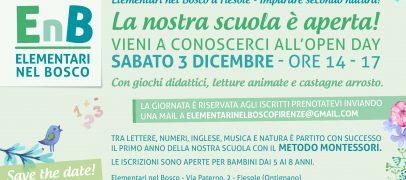 Elementari nel bosco – Open Day 3 Dicembre