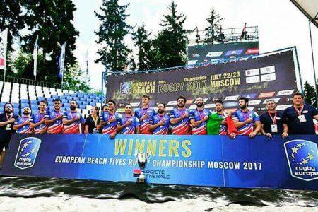 Azzurri campioni d'Europa con il Beach Rugby!