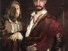 Ritratto del conte Giovanni  Secco Suardo con domestico - Marcello Scalzo