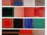 Serialità (polittico in 4 parti), 1995, tecnica mista su tavola, cm 172x40 ciascuno