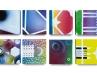 Senza titolo, 2013, spray acrilico su tela, cm 30x30 ciascuna