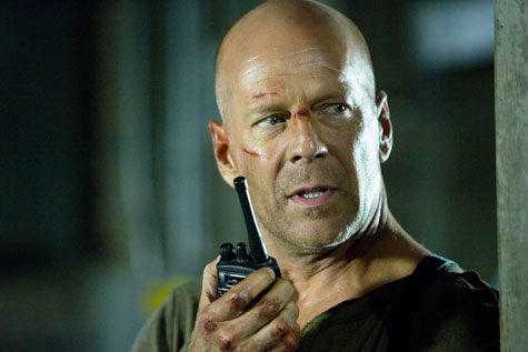 Pezzi di vetro e John McClane