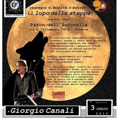 Giorgio Canali canta all'Anconella
