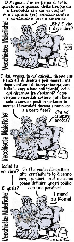 Vecchiette Malefiche- LEOPOLDA O LEOPARDA - 26-10-2014