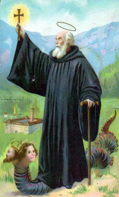 San Giovanni Gualberto, che schiaccia i corrotti dal suo esilio di Vallombrosa