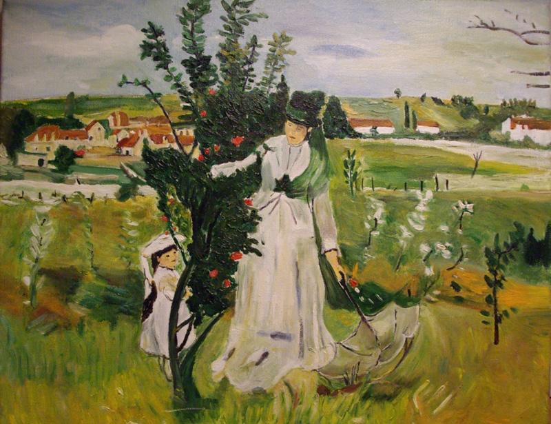 "Tributo a Berthe Morisot ""Nascondino"" del 1873"