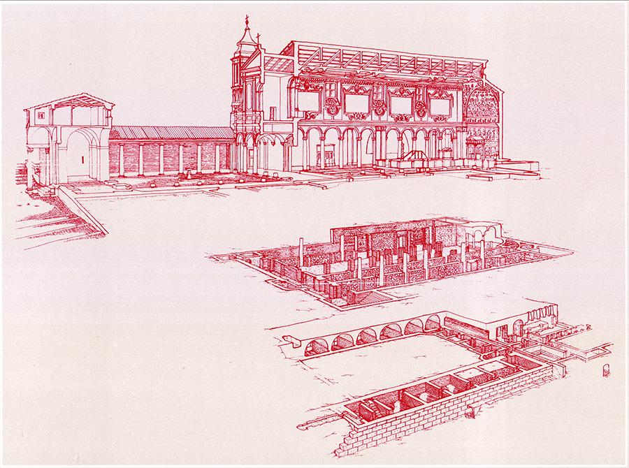 scavi della basilica di San Clemente, da http://www.ancoraonline.it/2012/12/06/la-basilica-di-san-clemente-a-roma/