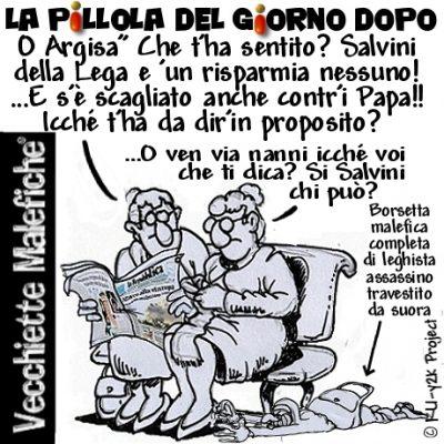 Salvini contro il Papa