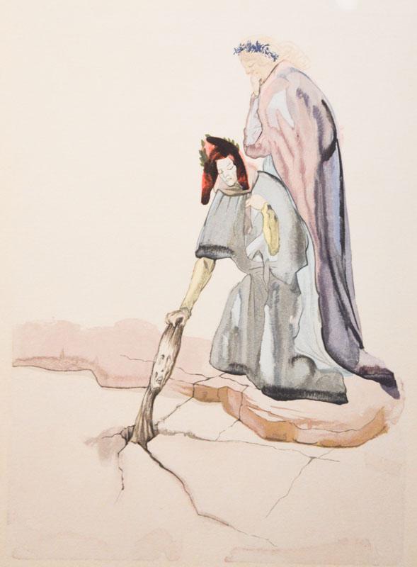 Ecco come vede Dalì la scena del 'traditor di Montaperti'.