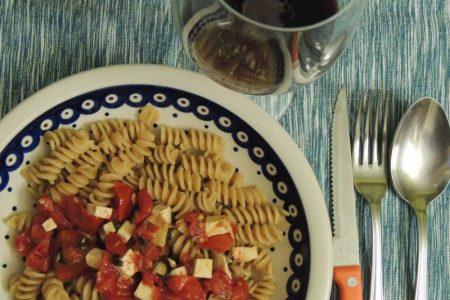 Fusilli… pomodori e tofu speziati ai semi di finocchio