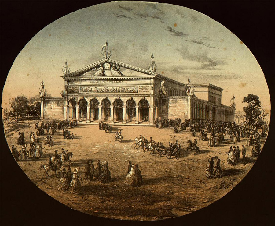 La Leopolda, durante l'esposizione nazionale del 1861