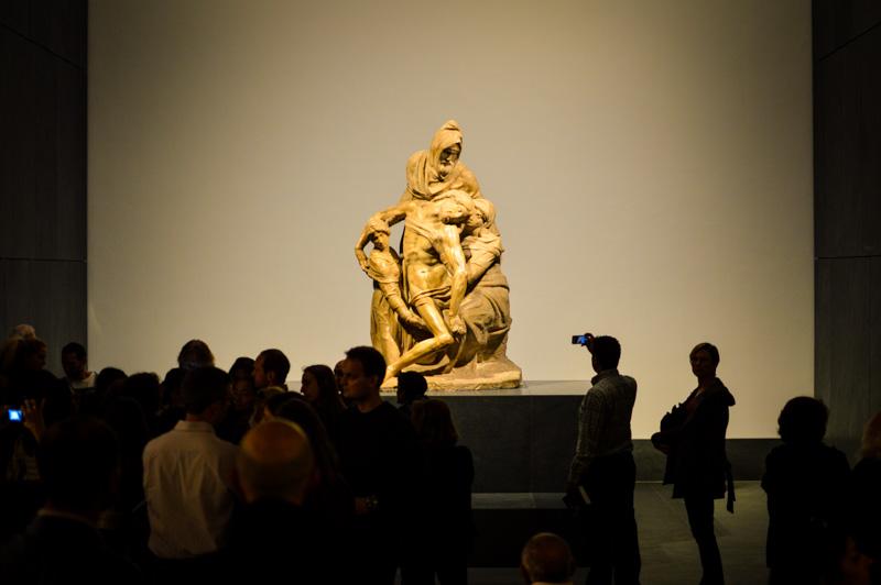 la pietà non finita di Michelangelo