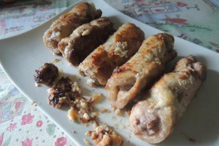 Involtini di lonza ripeni di salsiccia e pecorino