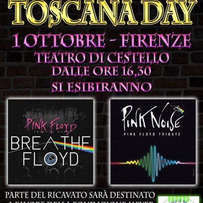 Pink Floyd Fans Club concerto benefico 1° Ottobre a Firenze