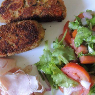 Polpette vegetariane di zucchine e scamorza