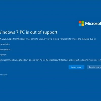 Microsoft manda in pensione Windows 7