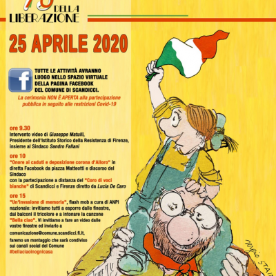 25 Aprile on line per Scandicci