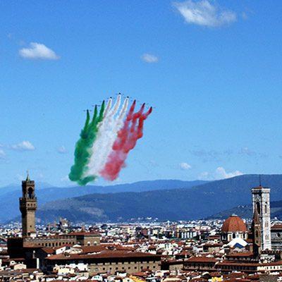 Frecce tricolori a Firenze