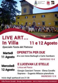 LIVE ART… in Villa