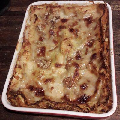 Lasagne alla crema di zucca e gorgonzola dolce